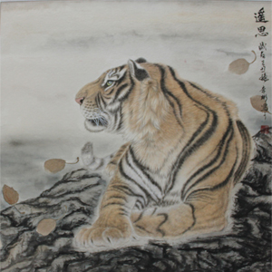 各种工笔画,如:老虎