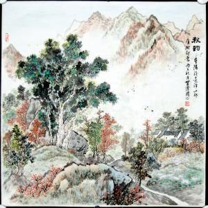 秋韵诗词手抄报